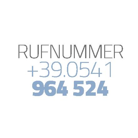 Rufnummer +39.0541964524